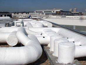 Complex pipework encapsulation for HVAC equipment