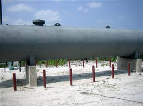 Vessel coated with Belzona 6111 (Liquid Anode) providing a cathodic protection to the metal surface